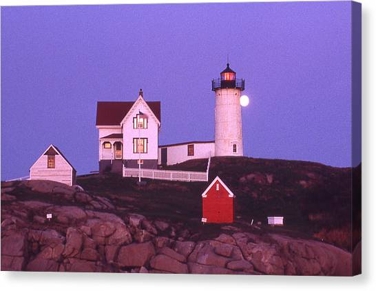 Cape Neddick Light Canvas Print by Herbert Gatewood