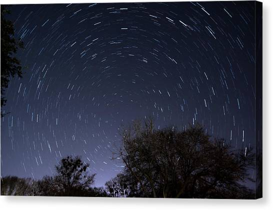 Canvas Print featuring the photograph 20 Minutes Of Star Movement by Todd Aaron