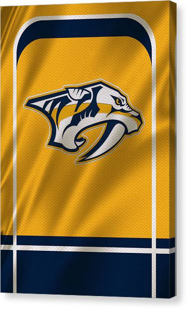Nashville Predators Canvas Print - Nashville Predators by Joe Hamilton