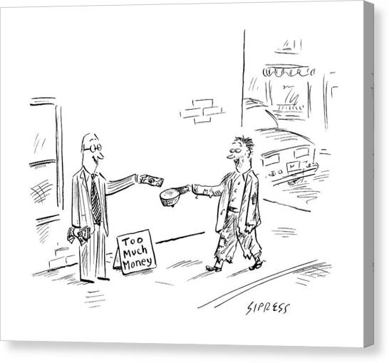 Economics Canvas Print - New Yorker August 6th, 2007 by David Sipress
