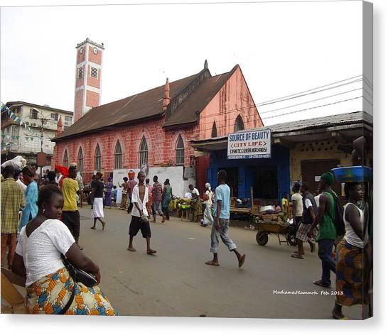 200 Year Old Methodist Church-sani Abacha Street  Canvas Print