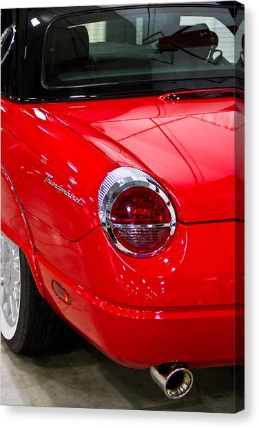 2002 Red Ford Thunderbird-rear Left Canvas Print