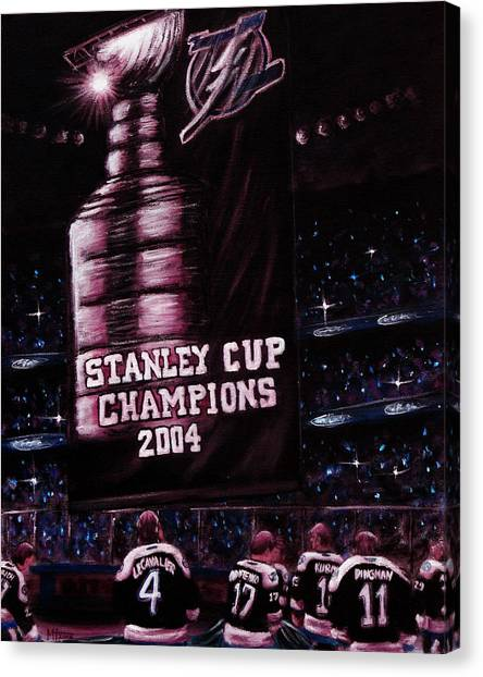Tampa Bay Lightning Canvas Print - 2004 Champs by Marlon Huynh