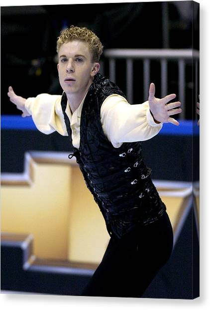 2004 State Farm U. S. Figure Skating Championships - Men's Short Program Canvas Print by Al Messerschmidt