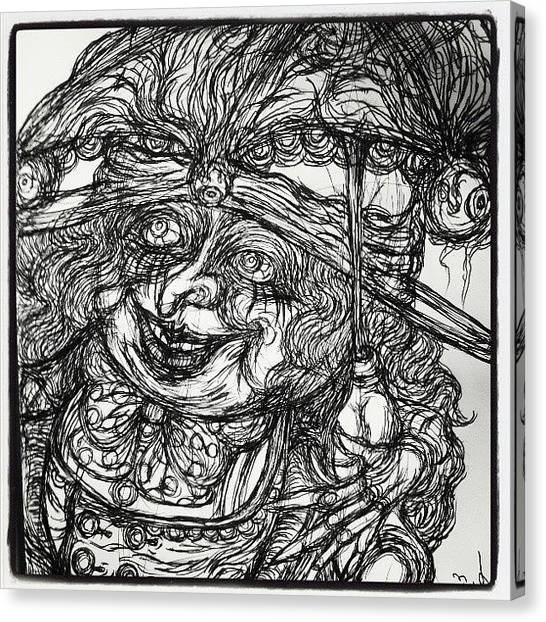 Unicorns Canvas Print - ユニコーン女性。上側。 by Akiko Okabe