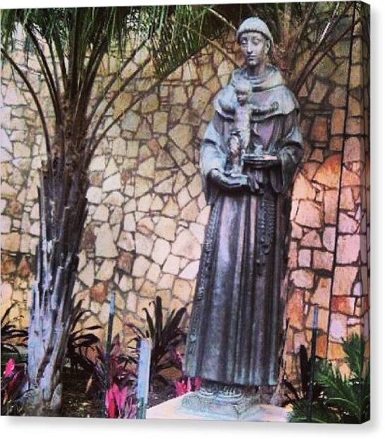 Saints Canvas Print - #2010 A #statue Of #saintanthony From by Briyonna Harrison