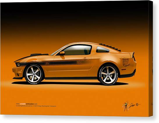 2011 Ford Twister Mustang Canvas Print