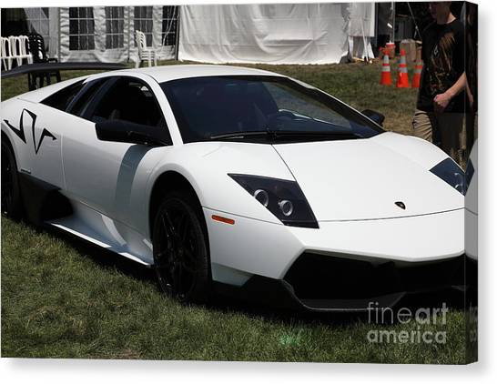 Lamborghini Murcielago Canvas Print   2011 Lamborghini Murcielago Sv  5d23492 By Wingsdomain Art And Photography