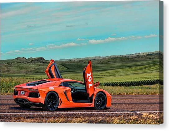 2012 Lamborghini Aventador Canvas Print