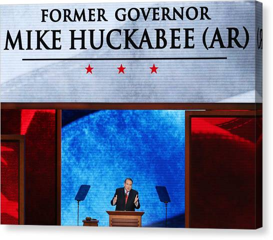 2012 Republican National Convention: Day 3 Canvas Print by Mark Wilson