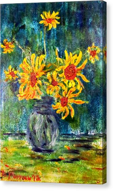 2012 Sunflowers 4 Canvas Print