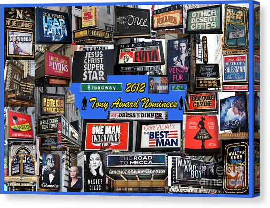 2012 Tony Award Nominees Collage Canvas Print