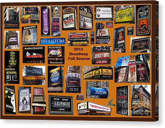 2013 Broadway Fall Collage Canvas Print