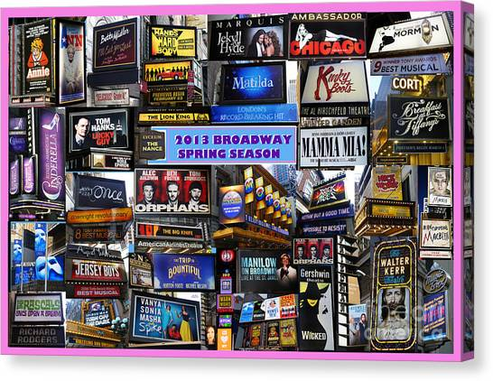 2013 Broadway Spring Collage Canvas Print
