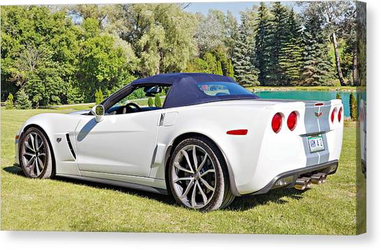 2013 Corvette 427 Sixtieth Anniversary Special Striped Roof Up Canvas Print