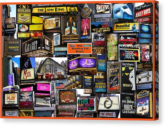 2014 Broadway Fall Season Collage Canvas Print