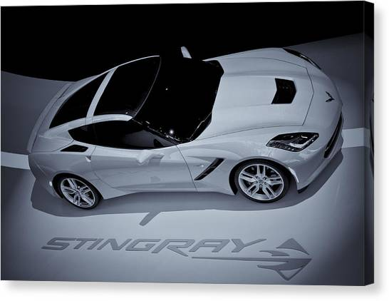 2014 Chevy Corvette  Bw Canvas Print