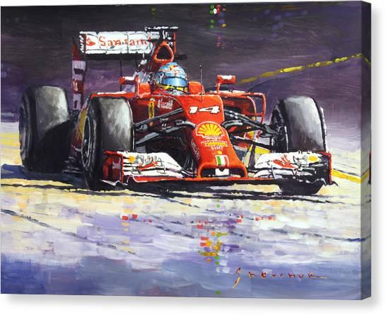 Papers Canvas Print - 2014 Ferrari F14t Fernando Alonso  by Yuriy Shevchuk