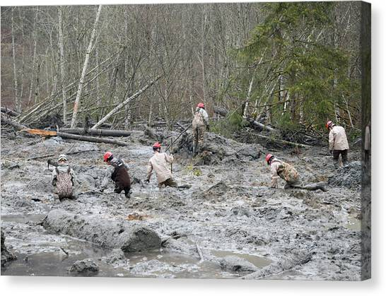 National Guard Canvas Print - 2014 Oso Mudslide by Us Army National Guard