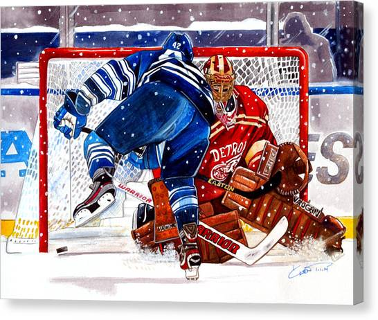 Toronto Maple Leafs Canvas Print - 2014 Winter Classic by Dave Olsen