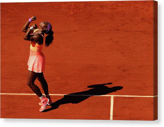 Tennis Pros Canvas Print - 2015 French Open - Day Fourteen by Clive Brunskill