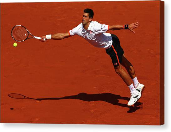 Tennis Pros Canvas Print - 2015 French Open - Day Seven by Clive Mason
