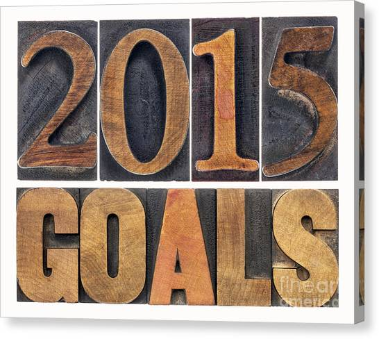 2015 Goals  Canvas Print