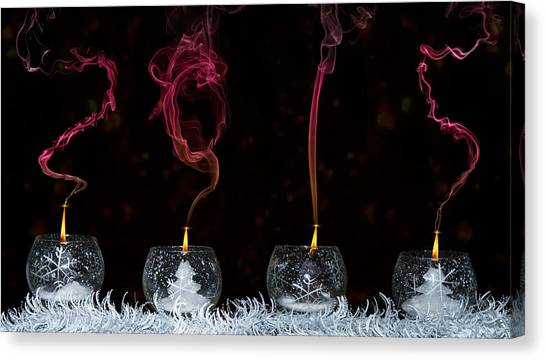 Snowflakes Canvas Print - 2015 by Lorenzo Ravasco