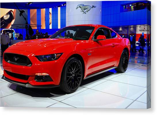 2015 Mustang In Red Canvas Print