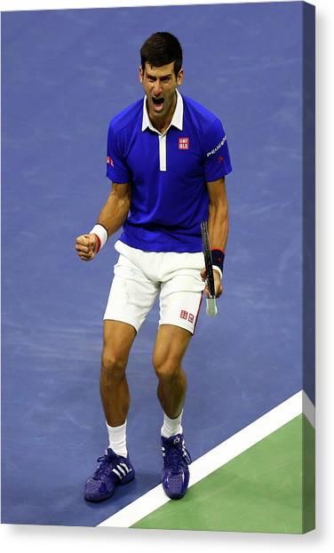 Tennis Pros Canvas Print - 2015 U.s. Open - Day 14 by Maddie Meyer