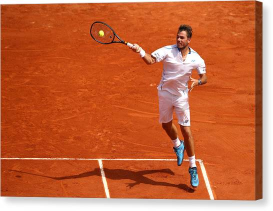 2018 French Open - Day Two Canvas Print by Cameron Spencer