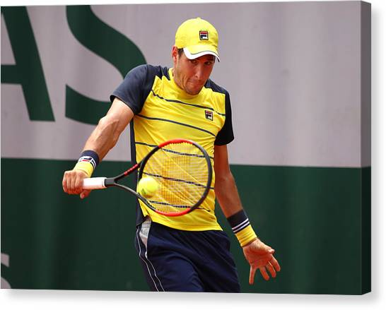 2018 French Open - Day Two Canvas Print by Clive Brunskill