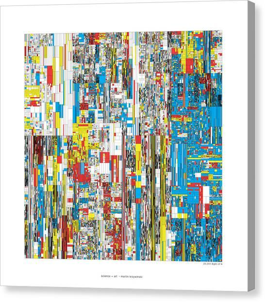 20244 Digits Of Pi Canvas Print by Martin Krzywinski