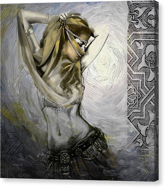 Egyptian Art Canvas Print - Abstract Belly Dancer 3a by Corporate Art Task Force