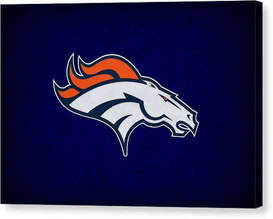 Bronco Canvas Print - Denver Broncos by Joe Hamilton