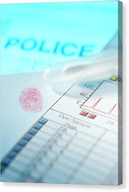 Forensic Evidence Canvas Print by Tek Image