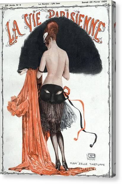 Paris Canvas Print - La Vie Parisienne  1920 1920s France by The Advertising Archives