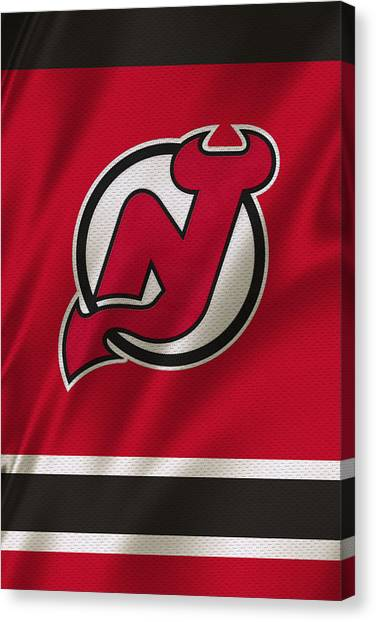 New Jersey Devils Canvas Print - New Jersey Devils by Joe Hamilton