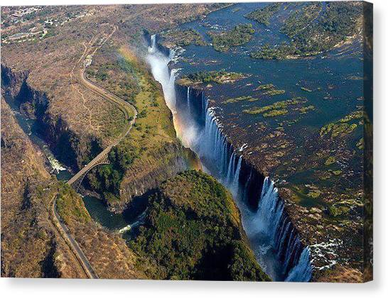Victoria Falls Canvas Print - Place by Kusabi Wong