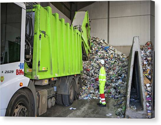 Recycling Centre Canvas Print by Lewis Houghton/science Photo Library