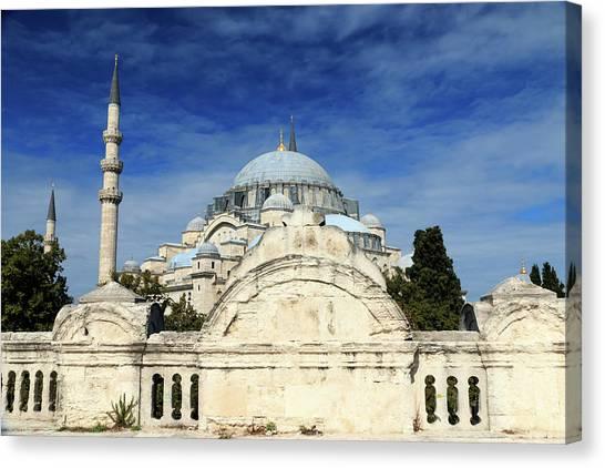 Suleymaniye Canvas Print - Turkey, Istanbul by Emily Wilson
