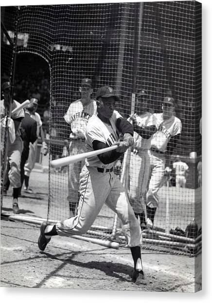 New York Mets Canvas Print - Willie Mays by Retro Images Archive