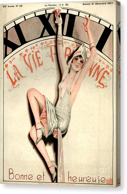 Celebration Canvas Print - 1920s France La Vie Parisienne Magazine by The Advertising Archives