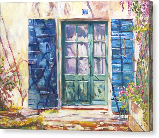 Southern France Canvas Print - 213 Rue De Provence by David Lloyd Glover