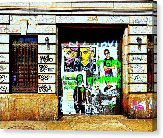 Graffiti Walls Canvas Print - 214 by Diana Angstadt