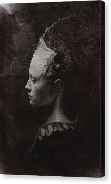 Teeth Canvas Print - Secret by Victor Slepushkin