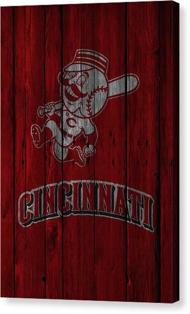 Cincinnati Reds Canvas Print - Cincinnati Reds by Joe Hamilton