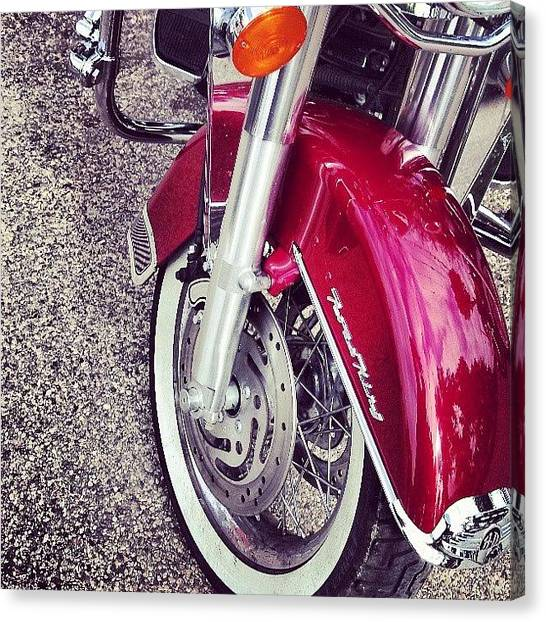 Harley Davidson Canvas Print - Instagram Photo by Aaron Kremer