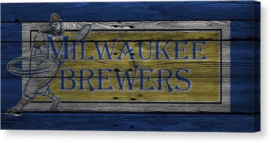 Milwaukee Brewers Canvas Print - Milwaukee Brewers by Joe Hamilton