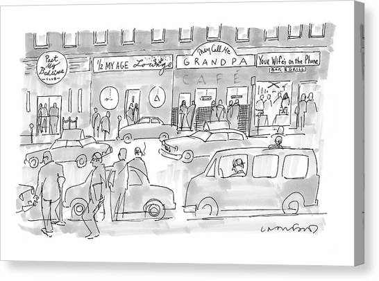 Grandpa Canvas Print - New Yorker March 31st, 2008 by Michael Crawford